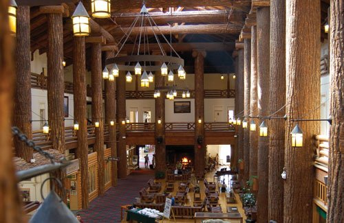 Lobby at Glacier Park Lodge