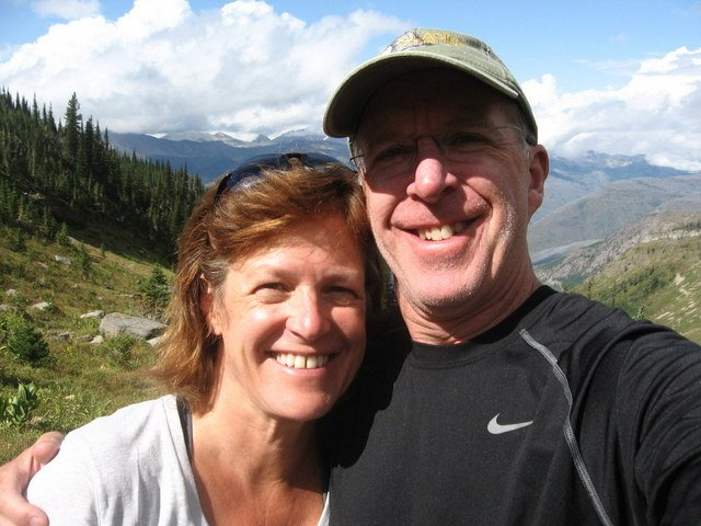 "A ""selfie"" at Haystack Butte"