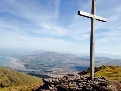 St. Brandon Cross with views of Cloghane and Castlegregory