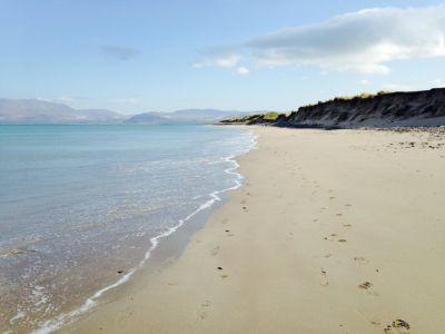 The last stretch of beach into Castlegregory
