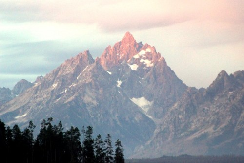 First light on Grand Teton. What a gift.