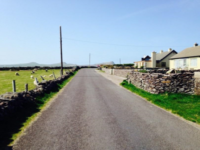 Road leaving the town of Murreagh