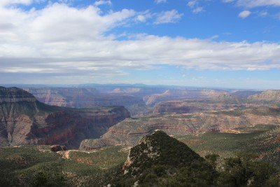 An unfamiliar Grand Canyon view from the Rainbow Rim Trail